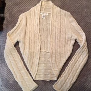 White House Black Market Cream Sweater Shrug.
